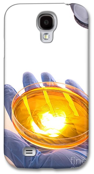 Bacterium Galaxy S4 Cases - Scientific Experiment in Science Research Lab Galaxy S4 Case by Olivier Le Queinec