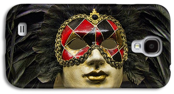 Hand Crafted Galaxy S4 Cases - Venetian Carnaval Mask Galaxy S4 Case by David Smith