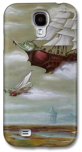 Steampunk Airships Galaxy S4 Case by Ramona Boehme