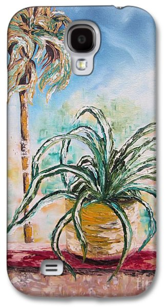 Green Galaxy S4 Cases - 103 - I Wanna Be a Palm Tree Galaxy S4 Case by Sigrid Tune