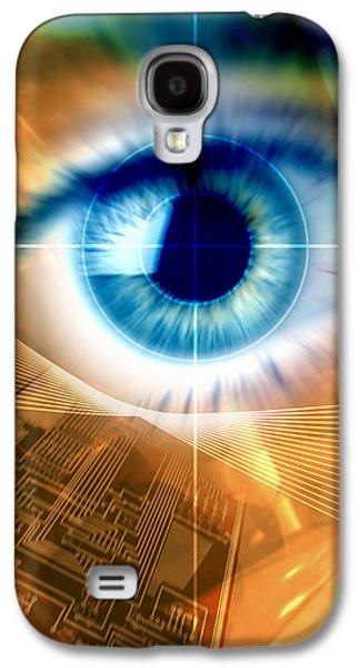 Technological Photographs Galaxy S4 Cases - Biometric Eye Scan Galaxy S4 Case by Pasieka