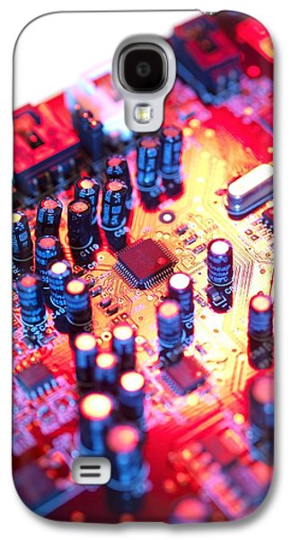 Circuit Board Galaxy S4 Cases - Circuit Board Galaxy S4 Case by Tek Image