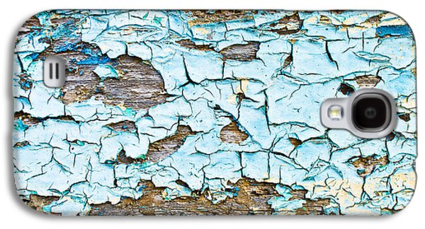 Blue Abstracts Galaxy S4 Cases - Peeling paint Galaxy S4 Case by Tom Gowanlock