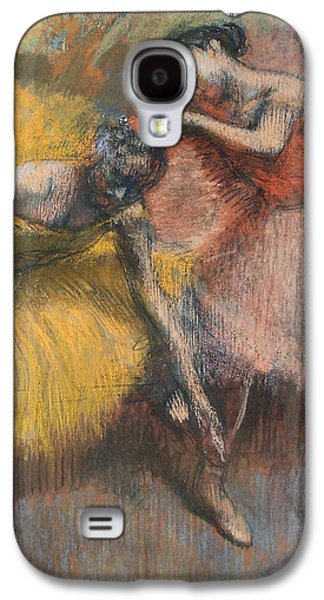 Dance Ballet Roses Galaxy S4 Cases - Two Dancers Galaxy S4 Case by Edgar Degas