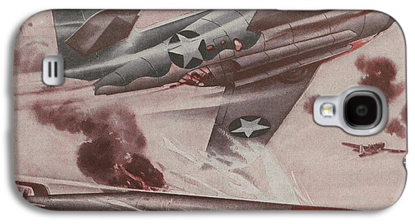 Recently Sold -  - Jet Star Galaxy S4 Cases - World War II Advertisement Galaxy S4 Case by American School