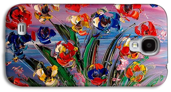 Recently Sold -  - Abstract Digital Paintings Galaxy S4 Cases - Flowers Galaxy S4 Case by Mark Kazav
