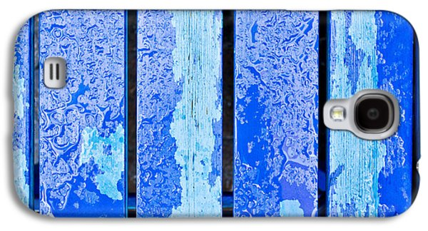 Blue Abstracts Galaxy S4 Cases - Blue wood Galaxy S4 Case by Tom Gowanlock