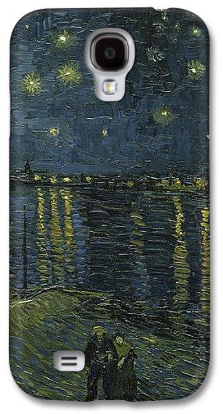 Vincent Van Gogh Galaxy S4 Cases - Starry Night Galaxy S4 Case by Van Gogh