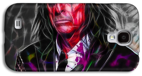 Music Mixed Media Galaxy S4 Cases - Alice Cooper Collection Galaxy S4 Case by Marvin Blaine