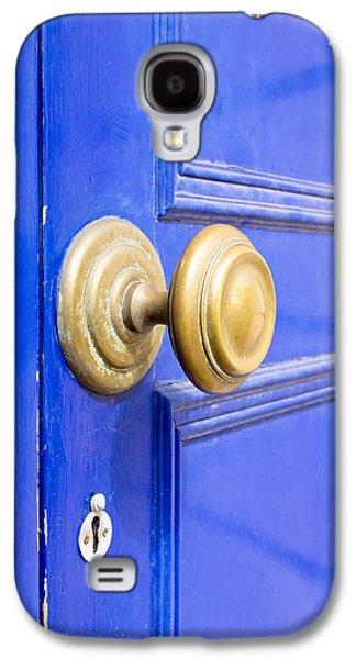 Ancient Galaxy S4 Cases - Blue door Galaxy S4 Case by Tom Gowanlock