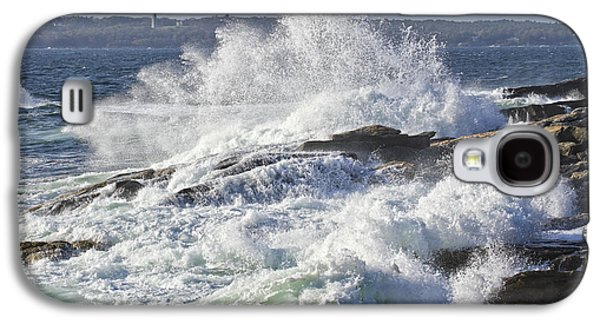 Crest Digital Art Galaxy S4 Cases - Large Waves Near Pemaquid Point On The Coast Of Maine Galaxy S4 Case by Keith Webber Jr