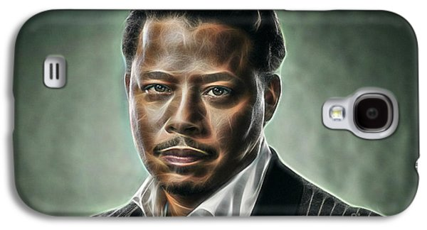 Pop Mixed Media Galaxy S4 Cases - Terrence Howard Collection Galaxy S4 Case by Marvin Blaine