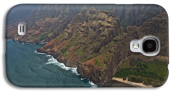 Green Galaxy S4 Cases - Na Pali Coast Kauai Galaxy S4 Case by Steven Lapkin