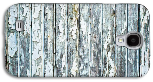 Blue Abstracts Galaxy S4 Cases - Weathered wood Galaxy S4 Case by Tom Gowanlock
