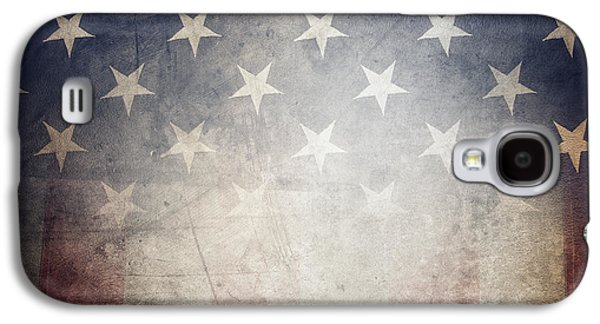 Landmarks Photographs Galaxy S4 Cases - American flag Galaxy S4 Case by Les Cunliffe