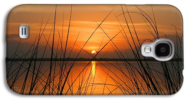 Waterscape Mixed Media Galaxy S4 Cases - Sunrise / sunset / Indian River Galaxy S4 Case by W Gilroy