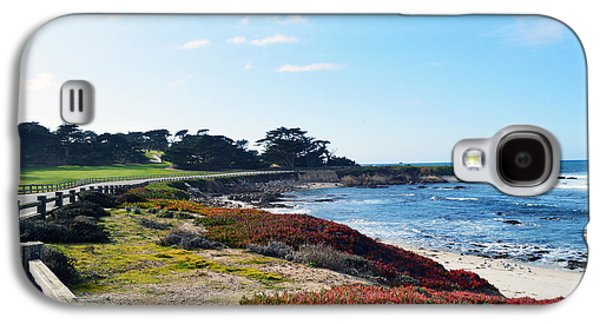 Split Rail Fence Galaxy S4 Cases - 17 Mile Drive Shore Line Galaxy S4 Case by Barbara Snyder