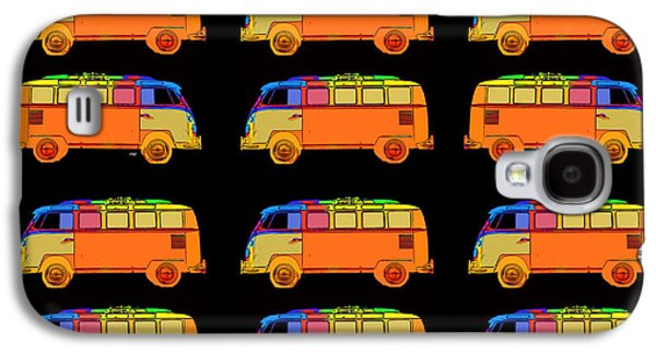 Colorful Abstract Galaxy S4 Cases - 18 Surfer Vans Galaxy S4 Case by Edward Fielding