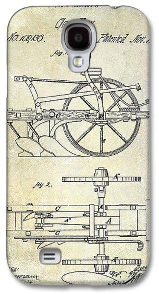 Plow Galaxy S4 Cases - 1870 Plow Patent Galaxy S4 Case by Jon Neidert