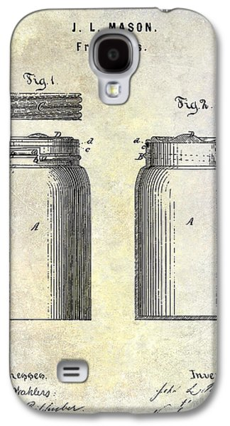 Mason Jars Galaxy S4 Cases - 1873 Mason Jar Patent Galaxy S4 Case by Jon Neidert