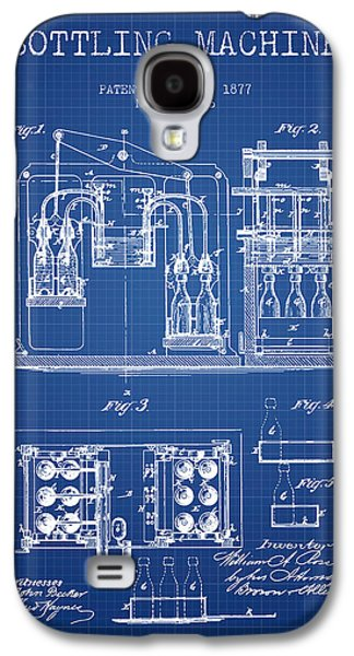 Food And Beverage Drawings Galaxy S4 Cases - 1877 Bottling Machine patent - Blueprint Galaxy S4 Case by Aged Pixel