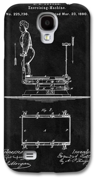 1880 Exercise Apparatus Patent Illustration Galaxy S4 Case by Dan Sproul
