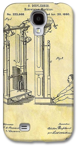 1880 Exercising Machine Patent Galaxy S4 Case by Dan Sproul
