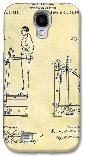 1881 Exercising Machine Patent Galaxy S4 Case by Dan Sproul
