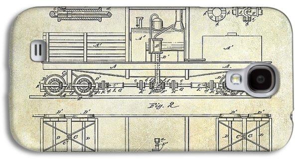 Train Photographs Galaxy S4 Cases - 1881 Locomotive Engine Patent Galaxy S4 Case by Jon Neidert