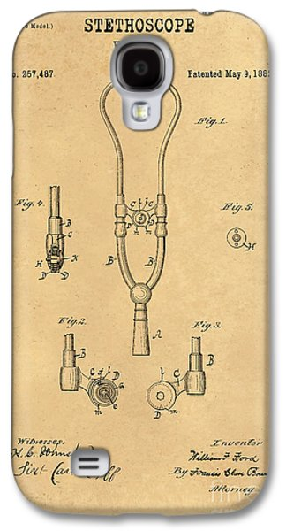 Historic Home Drawings Galaxy S4 Cases - 1882 Stethoscope Patent Art William Ford 3 Galaxy S4 Case by Nishanth Gopinathan