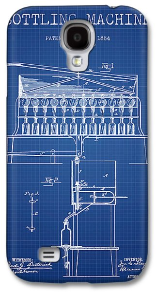 Food And Beverage Drawings Galaxy S4 Cases - 1884 Bottling Machine patent - blueprint Galaxy S4 Case by Aged Pixel