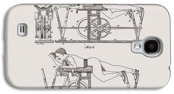 1885 Exercise Apparatus Illustration Galaxy S4 Case by Dan Sproul