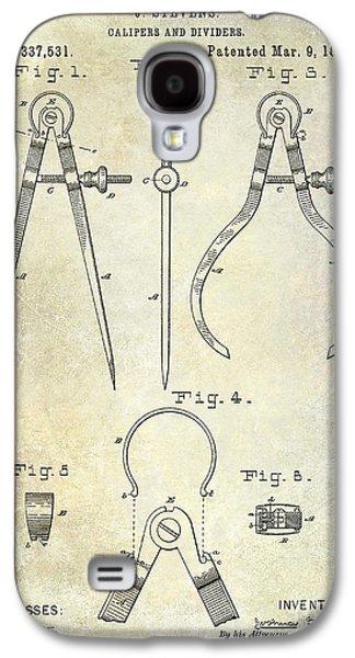 Compass Galaxy S4 Cases - 1886 Caliper Patent Galaxy S4 Case by Jon Neidert