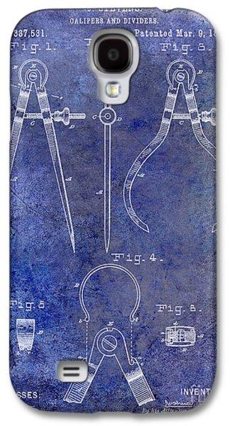 Compass Galaxy S4 Cases - 1886 Calipers Patent Blue Galaxy S4 Case by Jon Neidert
