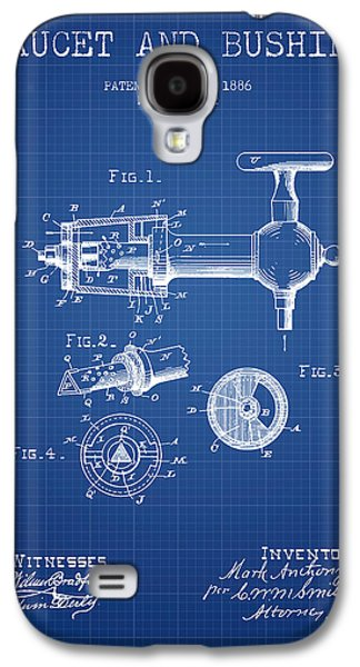 Technical Drawings Galaxy S4 Cases - 1886 Faucet and bushing Patent - Blueprint Galaxy S4 Case by Aged Pixel