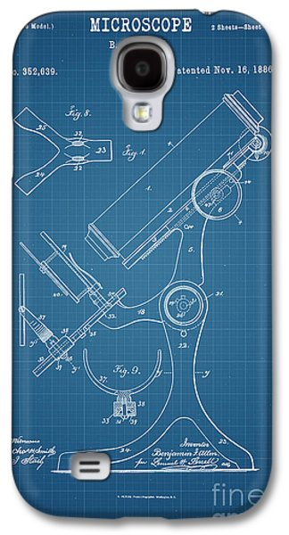 Historic Home Drawings Galaxy S4 Cases - 1886 Microscope Patent Art B.F. Allen 2 Galaxy S4 Case by Nishanth Gopinathan