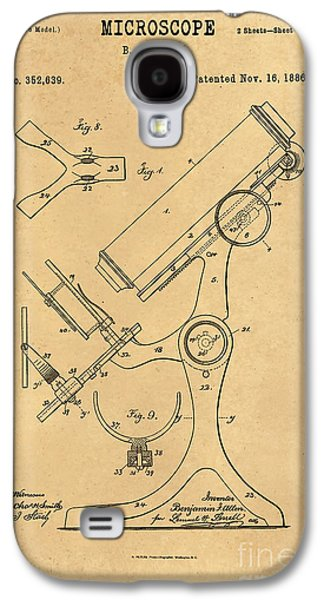 Historic Home Drawings Galaxy S4 Cases - 1886 Microscope Patent Art B.F. Allen 3 Galaxy S4 Case by Nishanth Gopinathan