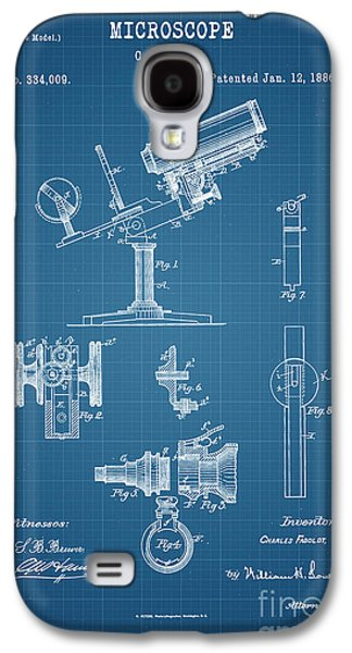 Historic Home Drawings Galaxy S4 Cases - 1886 Microscope Patent Art Fasoldt 2 Galaxy S4 Case by Nishanth Gopinathan