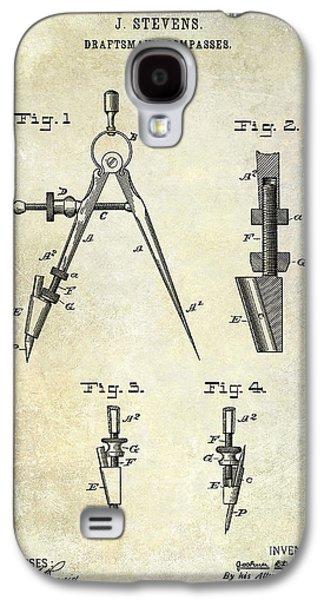 Compass Galaxy S4 Cases - 1888 Draftsmans Compass Patent  Galaxy S4 Case by Jon Neidert