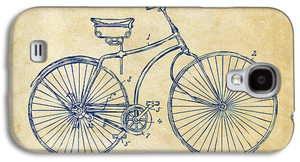 1890 Bicycle Patent Minimal - Vintage Galaxy S4 Case by Nikki Marie Smith