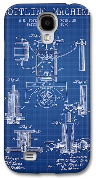 Food And Beverage Drawings Galaxy S4 Cases - 1890 Bottling Machine patent - blueprint Galaxy S4 Case by Aged Pixel