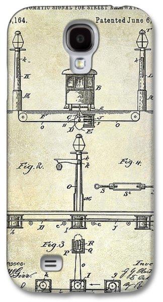 Train Photographs Galaxy S4 Cases - 1893 Street Railway Signal Patent Galaxy S4 Case by Jon Neidert