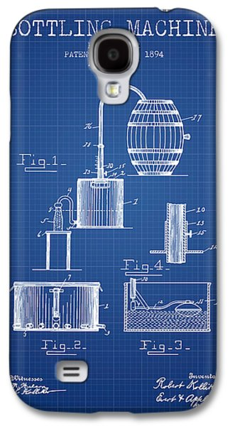 Technical Drawings Galaxy S4 Cases - 1894 Bottling Machine patent - Blueprint Galaxy S4 Case by Aged Pixel