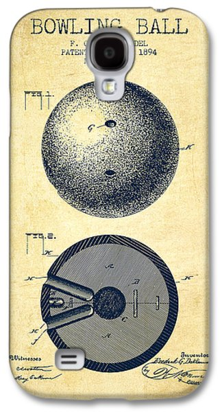 Carpet Drawings Galaxy S4 Cases - 1894 Bowling Ball Patent - Vintage Galaxy S4 Case by Aged Pixel