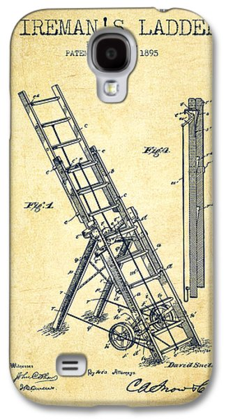 Gear Digital Galaxy S4 Cases - 1895 Firemans ladder Patent - Vintage Galaxy S4 Case by Aged Pixel