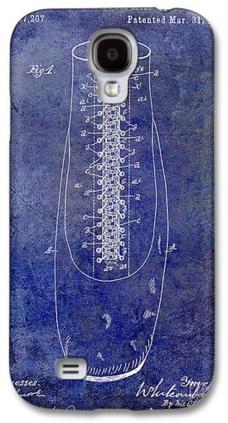 Nike Galaxy S4 Cases - 1896 Shoe Patent Blue Galaxy S4 Case by Jon Neidert