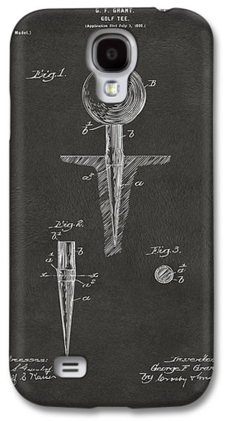 Sports Drawings Galaxy S4 Cases - 1899 Golf Tee Patent Artwork - Gray Galaxy S4 Case by Nikki Marie Smith