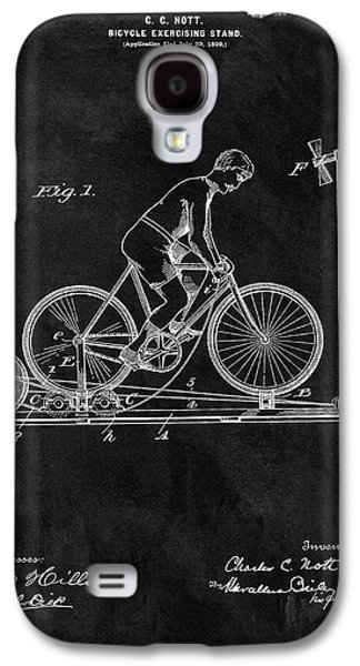 1900 Exercise Bike Patent Galaxy S4 Case by Dan Sproul