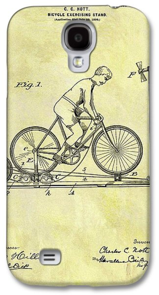 1900 Exercising Bicycle Patent Galaxy S4 Case by Dan Sproul