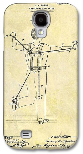 1900 Exercising Machine Patent Galaxy S4 Case by Dan Sproul